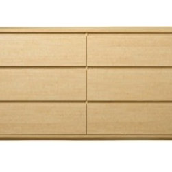 Room Essentials 6-Drawer, Maple - This is simple and sleek. I love the design, but those little legs are my favorite part. It's the kind of piece I would put in the living room and use as an entertainment center of sorts.