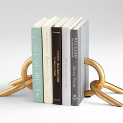 Cyan Design - Goldie Locks Bookends - Goldie locks bookends - gold