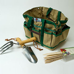 Gardener's Tool Time Gift Set - This Tool Time Set would be a great gift for a novice or well-seasoned garderner.  It contains lots of handy tools, plus the tool bag itself is genius!  As a gardener, I know I'd love to receive a kit like this for a birthday or any time of the year.