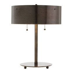 Arteriors - Albert Desk Lamp - Turn on terrific style with this great-looking lamp. Its sleek, simple base and metal shade with a dark bronze finish make it perfect for your living room, study or upscale man cave.
