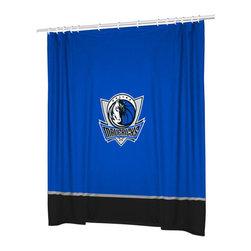 Sports Coverage - NBA Dallas Mavericks Basketball Bathroom Shower Curtain - FEATURES: