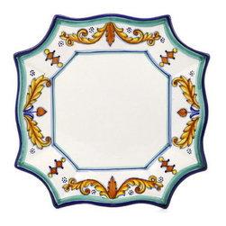 Artistica - Hand Made in Italy - PRINCIPE: Scalloped Square Charger - PRINCIPE Collection: Classico Dinnerware
