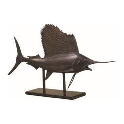 """SPI - Museum Sailfish - -Size: 16"""" H x 25.5"""" W x 9"""" D"""