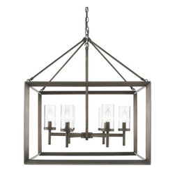 Golden Lighting - Golden Lighting 2073-6 Smyth 6 Light Cage Chandelier - Golden Lighting 6 Light Cage Chandelier from the Smyth CollectionFeatures: