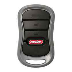 Genie - Genie Intellicode 2 3-button Remote Garage Door Opener - The Genie 3-button remote garage door opener controls up to three Genie doors. This remote utilizies dual frequencies 315 and 390 MHz for less operation interference and features rolling-code access technology that prevents unwanted entry.