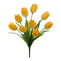 Silk Plants Direct - Silk Plants Direct Tulip Bush (Pack of 12) - Yellow - Pack of 12. Silk Plants Direct specializes in manufacturing, design and supply of the most life-like, premium quality artificial plants, trees, flowers, arrangements, topiaries and containers for home, office and commercial use. Our Tulip Bush includes the following: