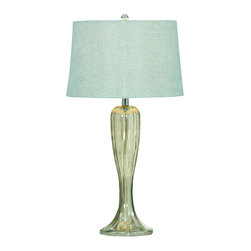 Bassett Mirror Company - Bassett Mirror L2492T Gable Table Lamp in Shaped Glass - Gable Table Lamp in Shaped Glass belongs to Transitions Collection by Bassett Mirror Company Bassett Mirror is fluent in this art, showing a terrific contemporary furniture that will satisfy on the one hand fans of home coziness, and on the other hand - seekers of non-standard design solutions also. One of the many strengths of the Bassett Mirror is using high quality materials for perfect embodiment of brilliant design ideas. Lamp (1)