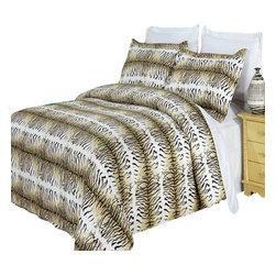 Bed Linens - Safari 100% Egyptian cotton Duvet cover set, King-California King - Colors include black, cream and mocha.