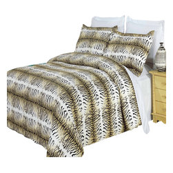Bed Linens - Safari 100% Egyptian cotton Duvet cover set, King-California King - Colors include black, cream and mocha.