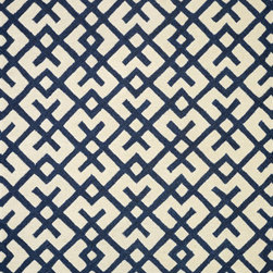 "Loloi - Loloi Weston HWS03 (Ivory, Navy) 5' x 7'6"" Rug - Feast your eyes on this. Hand-tufted in India of 100% wool, the tastefully designed Weston Collection features vibrant colors and bold, graphic patterns that instantly uplift the mood of your room. What's more, each Weston rug is crafted with a combination of colorful cut pile and ivory loops - adding a sense of depth and drama to these amazingly textural rugs."