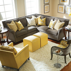 Traditional Sectional Sofas by Barbara Schaver @ Furnitureland South