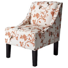 Contemporary Living Room Chairs Dwell Studio Peony Swoop Arm Chair