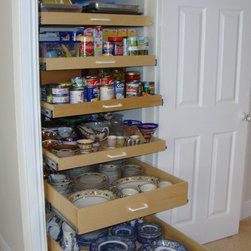 Pantry Pull Out Shelves - Pull out pantry shelves custom made by ShelfGenie of Miami.