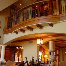 Mediterranean Living Room by Sharratt Design & Company