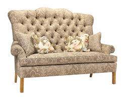French Heritage - French Heritage D'Artagnan Sofa - A sofa with all of the personality and chic that is associated with French style.  The bench made piece features a kiln-dried hardwood frame, 8-way hand tied construction, and a hand tufted-back, as well as, spring down cushion.  Sofa ships As-Shown.