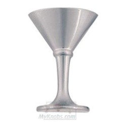 Atlas Homewares - Cabinet Hardware - Wet Bar Martini Glass Knob in Brushed Nicke -