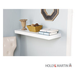 """Holly & Martin - Holly & Martin Cadence Floating Shelf 36""""-White - Without any visible supports, this wall shelf really does look like it's floating, which is perfect in a space you'd like to keep uncluttered. It's easy to hang and perfect for displaying photos and family artifacts."""
