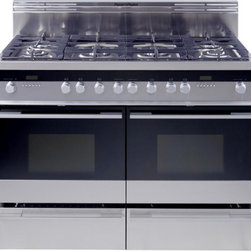 "Fisher & Paykel OR48DDPWGX1 48"" Dual Fuel Range - 48"" Dual Fuel Range with 6 Burners, Two 2 Cu. Ft. Ovens, 2 Warming Drawers, Continuous Grates, Pyrolytic Self Clean, LP Conversion Kit"