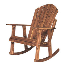 New Style Cedar Adirondack Rocking Chair - Amish Direct Furniture offers Nationwide Shipping at the Best Prices. Furniture can be Customized by Wood, Stain Color, and Other Styles. See Our Entire Variety of Custom-Made Furniture on Our Site!