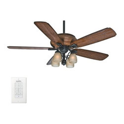 "Casablanca - Casablanca 55051 Heathridge 60"" 5 Blade Ceiling Fan - Light Kit, Blades, and Wal - Included Components:"