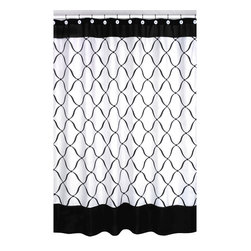 Sweet Jojo Designs - Sweet Jojo Designs Black and White Shower Curtain - This designer collection adds a touch of style and a splash of color to the bathroom. The easy bathroom makeover can easily pair with coordinating Sweet JoJo Designs room accessories to complete a favorite theme.