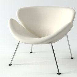 "IFN Modern - Slice Chair - Overall Dimensions: 33""W x 27.6\""H x 32.3\""D Top grain leather on all parts 