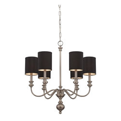 Jeremiah Lighting - Willow Park 6 Light 1 Tier Chandelier - Antique Nickel - Bulb Base: Candelabra (E12). Bulb Wattage: 60W. Bulb Count: 6. Bulbs Not Included