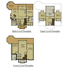 Traditional Floor Plan by Max Fulbright Designs
