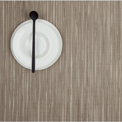 Chilewich - Chilewich Rectangle Rib Weave Placemat - Coconut, Set of Four - Zen garden meets dinner table. A movable feast is easy to carry off when you have easy-care placemats that offer a sophisticated backdrop for formal to al fresco dining.