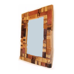 'Mirrage' Large Wall Mirror by Stil Novo Design - Mirror, mirror on the wall, which is the cleverest of them all? I say this one, made with wine barrel staves.