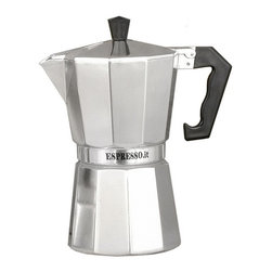 La Pavoni - Traditional Aluminum Stove Top Espresso Maker (1 Cup (5 in. H)) - Choose Cup Capacity: 1 Cup (5 in. H). Bakelite handles. Angle cut edges. Smooth inside and out. Heavy duty cast of aluminum. Chrome finish
