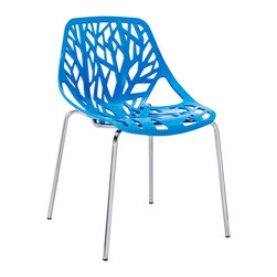 Stencil Dining Side Chair - Find your inner catalyst with this activating dining chair. Watch as a tree is carefully depicted in Stencil's telling journey between enigmatic forests and song-filled remembrances. Let sunlight filter through and nurture experiences of enduring light.