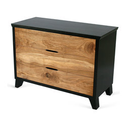 Springhouse Shop and Studio, Inc - Griffin Dresser - Amazingly lively bookmatched European Walnut drawer fronts are framed by blackened Pennsylvania Maple in this new original Springhouse designed dresser. This dresser is even more stunning in person.