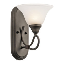 Kichler Lighting - Kichler Lighting 5556OZ Stafford Olde Bronze Wall Sconce - Kichler Lighting 5556OZ Stafford Olde Bronze Wall Sconce