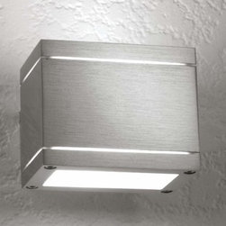 LumenArt - LumenArt | AWL.12 Wall Sconce - Please note: These fixtures are designed to mount to their own miniature junction boxes (included). For existing junction boxes, an optional canopy plate can be specified (not pictured). Wall light for direct and/or indirect illumination.Material