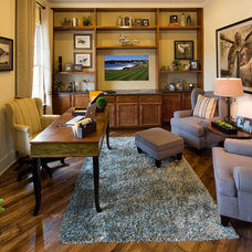 Transitional Home Office by Schumacher Homes