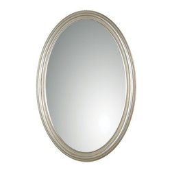 Uttermost - Franklin Oval Mirror in Antique Silver Leaf - 08601 P - Franklin oval mirror