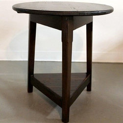 Pine English Cricket End Table with Espresso Finish - Made by http://www.ecustomfinishes.com