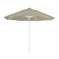 California Umbrella - 9 Foot Olefin Fabric Aluminum Pulley Lift Patio Market Umbrella with White Pole - California Umbrella, Inc. has been producing high quality patio umbrellas and frames for over 50-years. The California Umbrella trademark is immediately recognized for its standard in engineering and innovation among all brands in the United States. As a leader in the industry, they strive to provide you with products and service that will satisfy even the most demanding consumers.