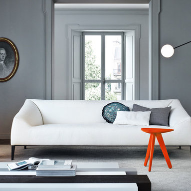 Carmel Collection - Poliform Carmel Sofa and Armchair with Woodstock coffee table and Ipsilon stool.