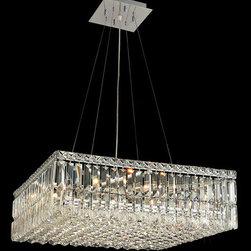 Elegant Lighting - Elegant Lighting 2032D24C/EC Maxim 12 Light Chandeliers in Chrome - 2032 Maxim Collection Hanging Fixture L24in W24in H7.5in Lt:12 Chrome Finish (Elegant Cut Crystals)