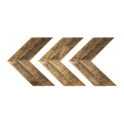 Barn Wood Wall Chevrons, Set of 3 - These arrows are a simple yet eye catching addition to any living space.