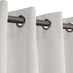 RoomDividersNow - Room Divider Fabric Curtain, White, 8'x10' - 100% cotton muslin. All sides hemmed and finished.