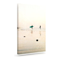 """Kess InHouse - Bree Madden """"Surfers"""" Wrapped Art Canvas (30"""" x 24"""") - Bring your outdoor patio to life with this artistic outdoor canvas wrap featuring gorgeous artwork by KESS InHouse. These canvases are not only easy to hang and remove but also are the perfect addition to your patio collection. These canvases are stretched around a wooden frame and are built to withstand the elements and still look artistically fabulous. Decorating your patio and walls with these prints will add the splash of art and color that is needed to bring your patio collection together! With so many size options and artwork to choose from, there is no way to go wrong with these KESS Canvas Wraps!"""