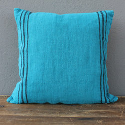 turquoise linen pillow - view this item on our website for more information + purchasing availability: http://redinfred.com/shop/category/detail/throw-pillows/turquoise-linen-pillow/