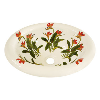 Floral Bathroom Sinks : brighten up your bathroom with these tropical bird of paradise flowers ...