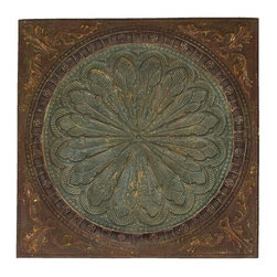 BZBZ69246 - Artist Wall Decor with Byzantine Floral Design - Artist wall decor with byzantine floral design. What more illustrious decor than a piece of decor with a rich floral design like this wall plaque? This piece is inspired by the artistic decoration found in the Byzantine empire, the rich culture where East meets West. The perfect piece of wall decor to place on a grand living room wall, or at the end of a long hallway.
