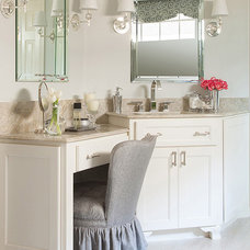 Transitional Bathroom by Marker Girl Home