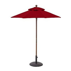 Round Market Umbrella Canopy Replacement, 6', Solid, Cherry Red - Give your umbrellas a fresh, new look this season. In vibrant, sun-drenched colors and patterns, these canopies add summertime energy to your outdoor spaces. Sunbrella(R) fabric available in 9' diameter or rectangular canopies and feature a tie closure. Standard fabric available in 6' or 9' diameter, or rectangular canopies. Rectangular Canopy available as 9.8' wide x 6.5' deep. Great way to update your umbrella each season Generously sized umbrella canopies feature weather-resistant polyester canvas. Replacement canopies will fit all PB umbrella frames: Eucalyptus, Teak or Aluminum. Read more on our blog about the inspiration behind this product. View our {{link path='pages/popups/fb-outdoor.html' class='popup' width='480' height='300'}}Furniture Brochure{{/link}}.