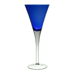 Lavish Shoestring - Consigned 4 Colourful Harlequin Champagne Flutes, Vintage European - This is a vintage one-of-a-kind item.